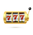 slot machine with lucky sevens jackpot vector image vector image