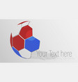 soccer ball logo design with copy space vector image vector image