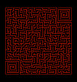 square maze vector image vector image