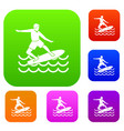 surfer set collection vector image