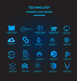 technology logo collection template vector image