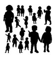 toddler gesture silhouettes vector image
