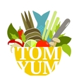 Tom Yum Soup Food Set vector image vector image
