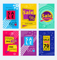 trendy offers cards colorful sale banners vector image vector image
