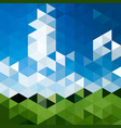 triangular abstract background landscape vector image vector image