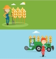 Two agricultural banners with space for text vector image