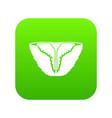 vintage bikini icon green vector image vector image