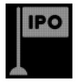white halftone ipo rectangle flag icon vector image vector image