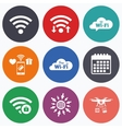 Wifi Wireless Network icons Wi-fi zone locked vector image vector image