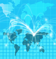 world map light background vector image