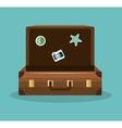 suitcase travel icon vacation design vector image