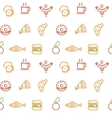 Foodstuff pattern vector image