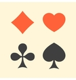 Set of playing card suits flat icon logo isolated vector image