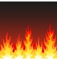 Seamless fire flame background vector image