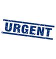 square grunge blue urgent stamp vector image