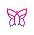 abstract butterfly sign logo vector image