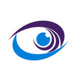 abstract eye graphic design icon logo vector image vector image