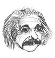 albert einstein famous scientist vector image
