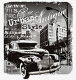antique car urban style vector image vector image