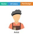 Artist icon vector image