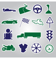 automotive stickers collection eps10 vector image vector image