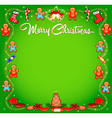 background Christmas with cakes vector image vector image