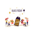 black friday sale event flat people characters vector image vector image