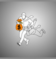 businessman holding orange bag of money and other vector image