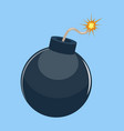 cartoon bomb ready to explode vector image vector image