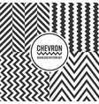 chevron seamless pattern background set black and vector image vector image