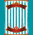 circus scratched blue background vector image vector image