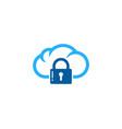 cloud security logo icon design vector image