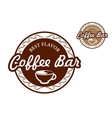 Coffee bar signs vector image vector image