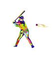 colorfull baseball vector image vector image