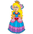 cute princess with long hair vector image vector image