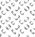 Deer horns seamless pattern vector image