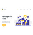 development team landing page web design vector image vector image