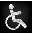 Disabled sign Scribble effect vector image vector image