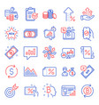 finance icons set included icon as bitcoin think vector image vector image