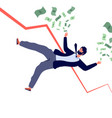 financial crisis concept businessman falling down vector image