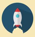 flat design rocket vector image vector image