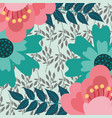 flowers leaves natural foliage floral background vector image vector image