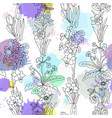 flowers seamless pattern collection set design vector image vector image