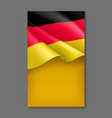 germany patriotic festive background vector image vector image