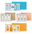 gift boxes with cosmetics set 3 vector image vector image
