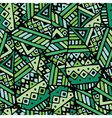Green ethnic mexican leaf seamless pattern pr vector image
