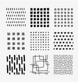 hand draw square pattern swatch set vector image
