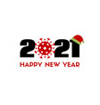 happy new 2021 year greeting card with vector image