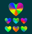 heart symbol colorful gradient texture hearts vector image