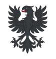 heraldic black eagle vector image